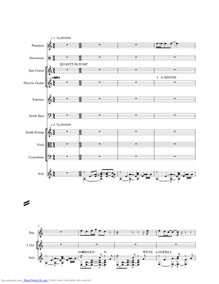 You Lost Me Music Sheet And Notes By Christina Aguilera