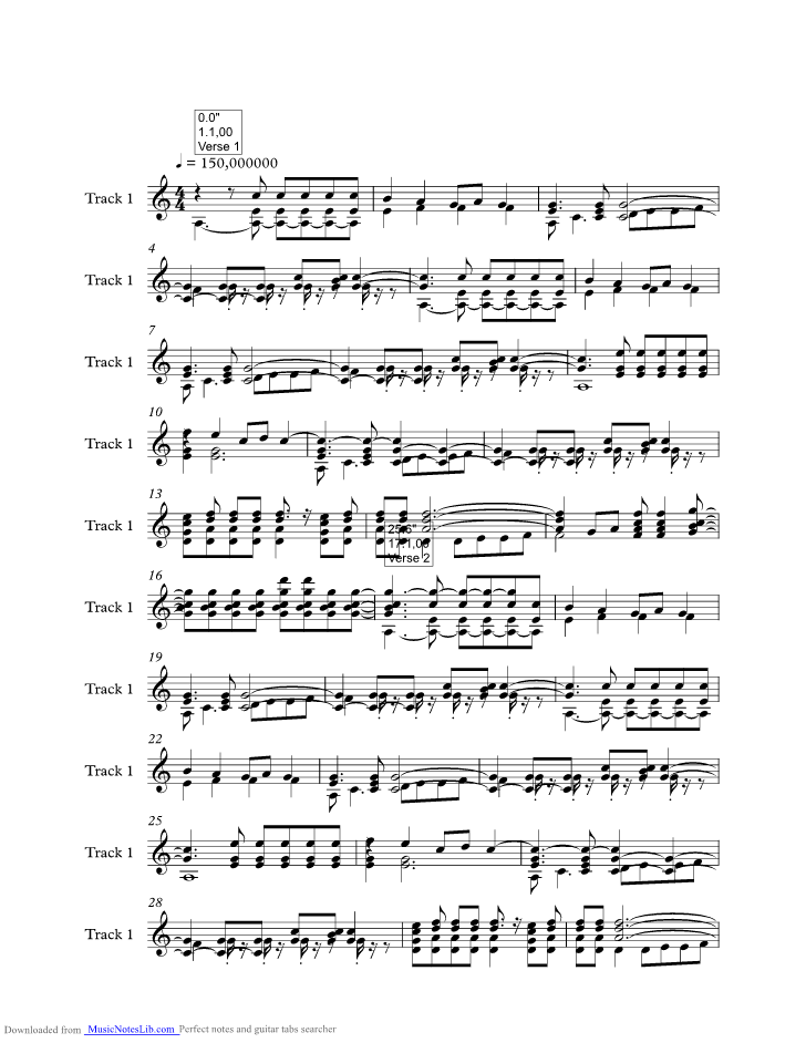 Cannonball Music Sheet And Notes By Damien Rice Musicnoteslib