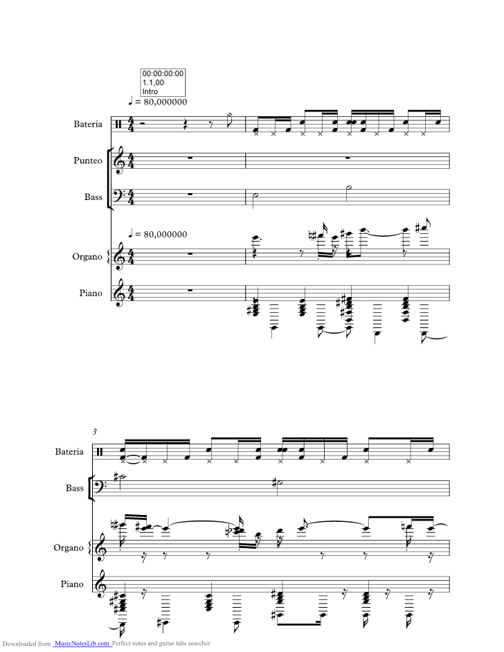 Out Of My Head Music Sheet And Notes By Fastball Musicnoteslib