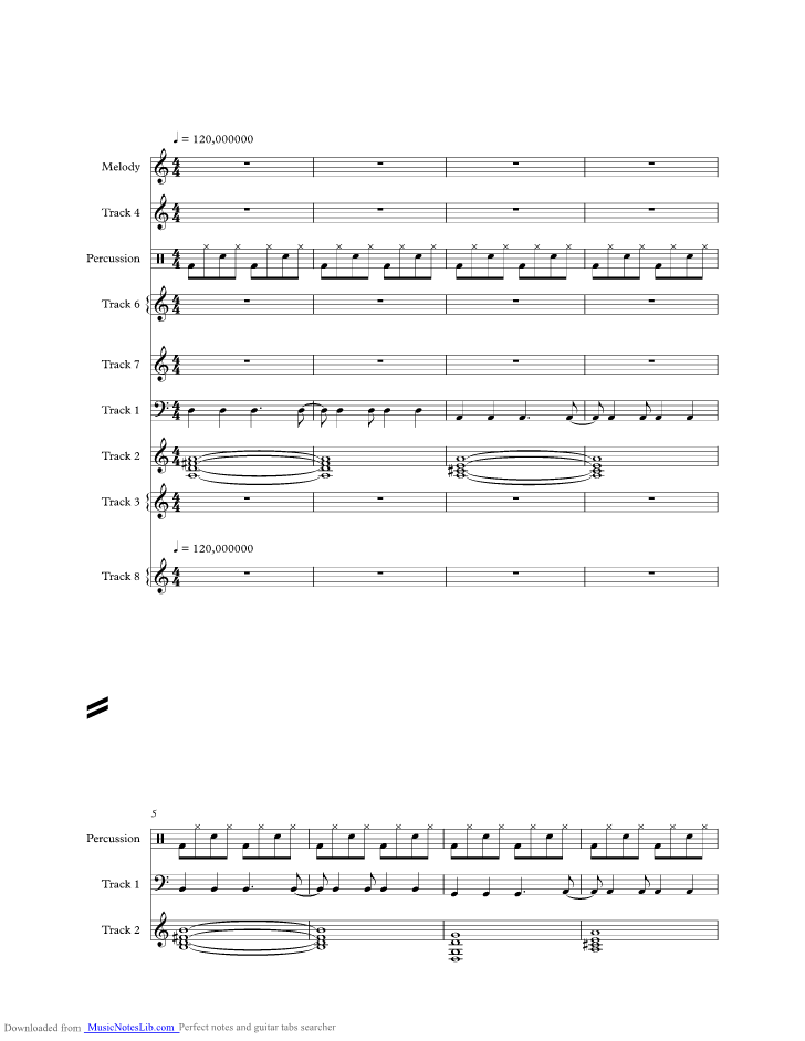 On Melancholy Hill Music Sheet And Notes By Gorillaz Musicnoteslib