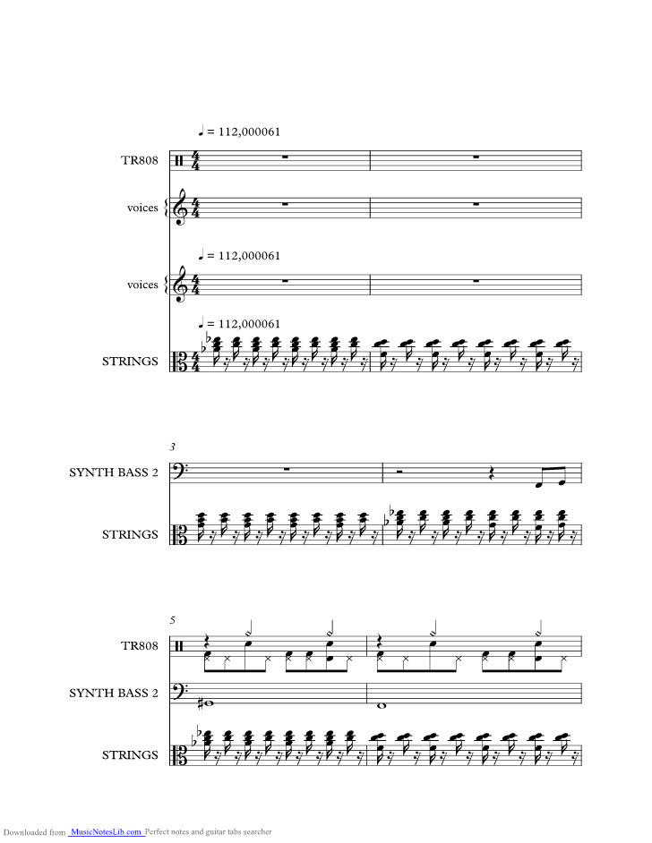 Gangstas Paradise music sheet and notes by Coolio @ musicnoteslib.com