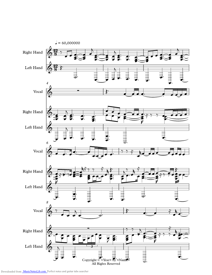 Kissing You music sheet and notes by Desree @ musicnoteslib.com