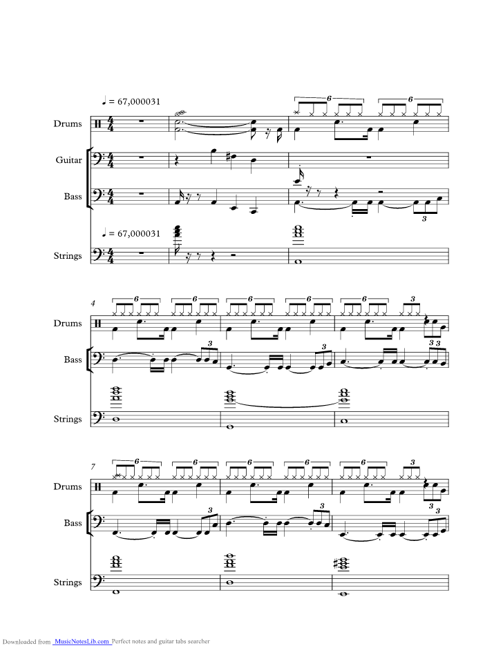 Parisienne Walkways music sheet and notes by Gary Moore ...