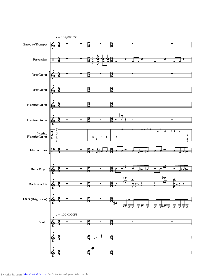 Oh Pretty Woman Music Sheet And Notes By Gary Moore Musicnoteslib