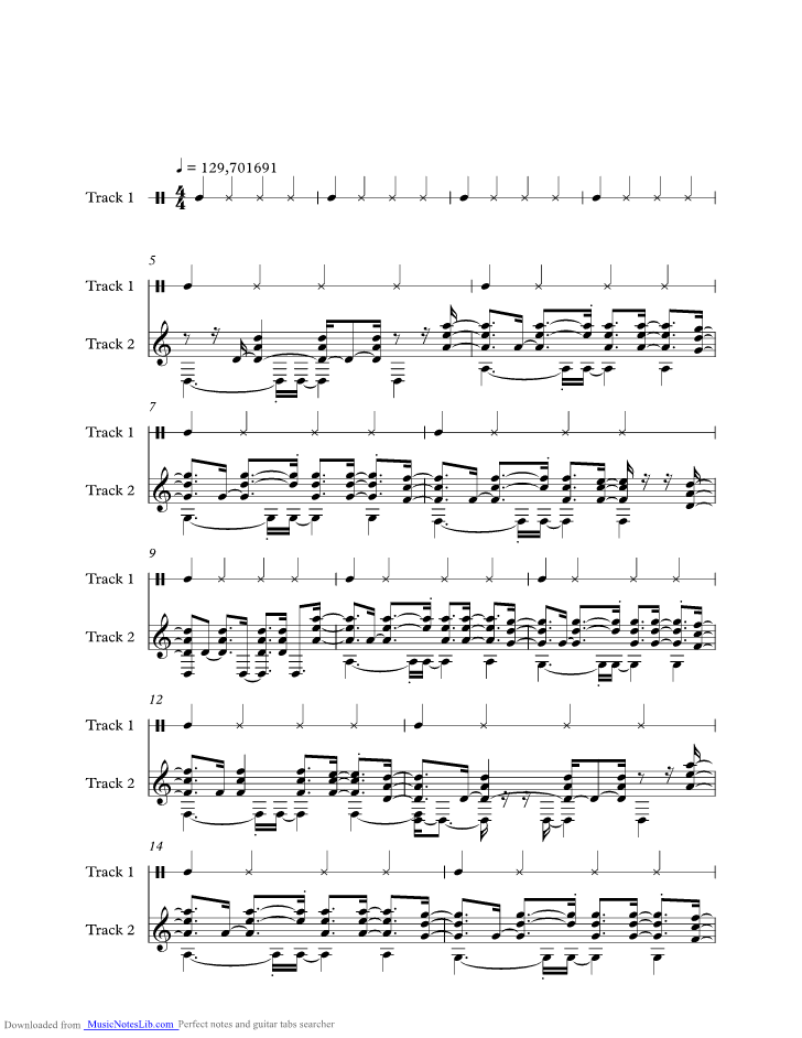 Mystify Music Sheet And Notes By Inxs