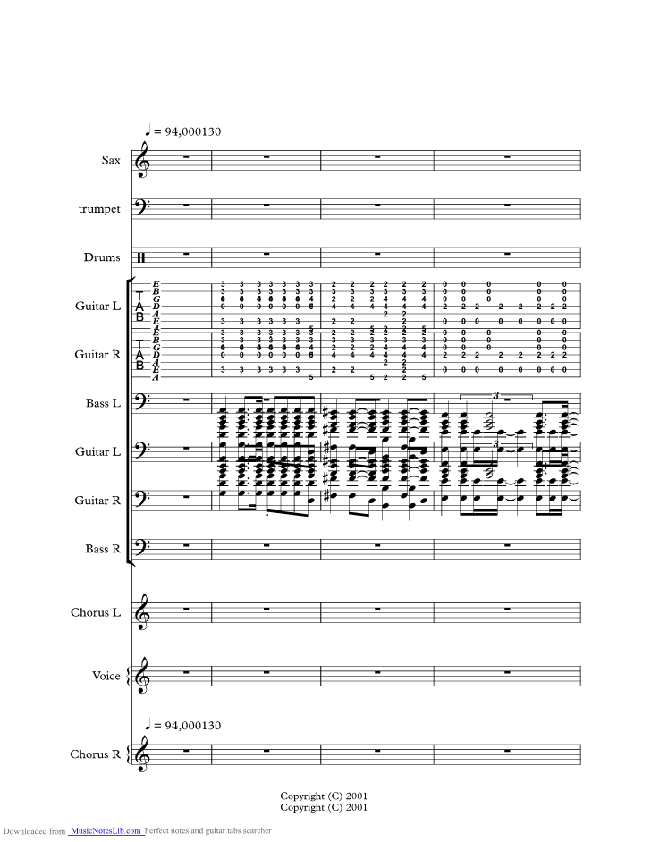 Passenger Music Sheet And Notes By Powderfinger Musicnoteslib