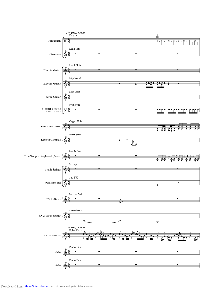 All Music Chords crazy sheet music : Crazy music sheet and notes by Seal @ musicnoteslib.com