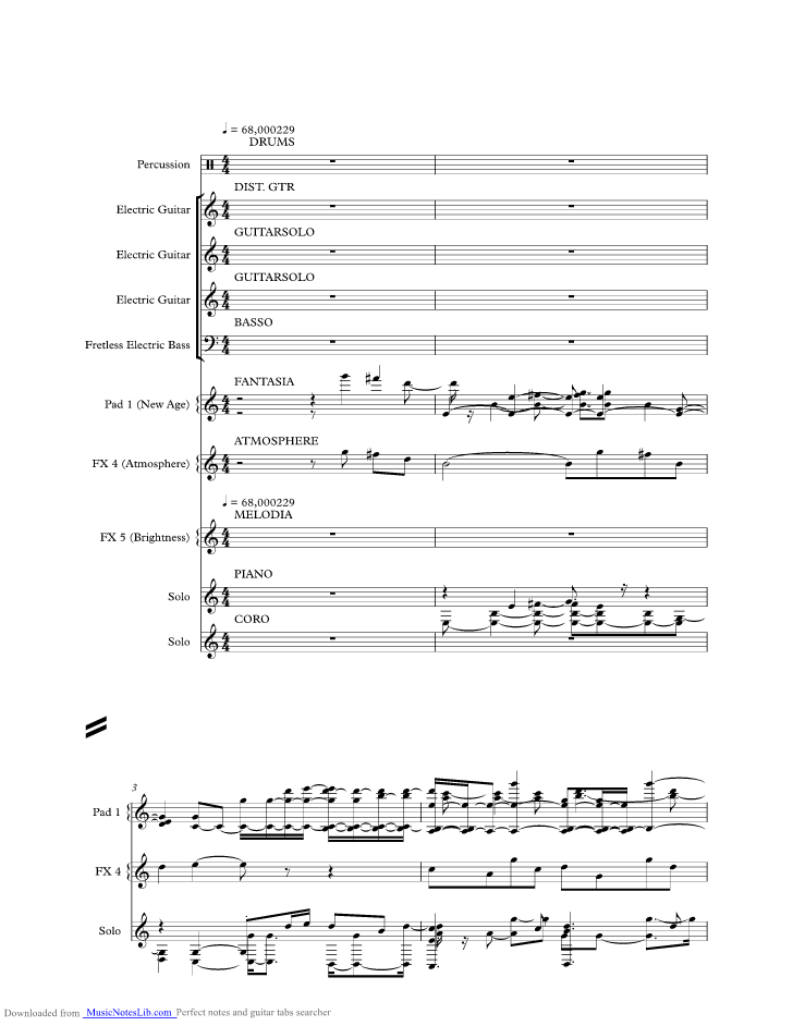 Carrie Music Sheet And Notes By Europe Musicnoteslib