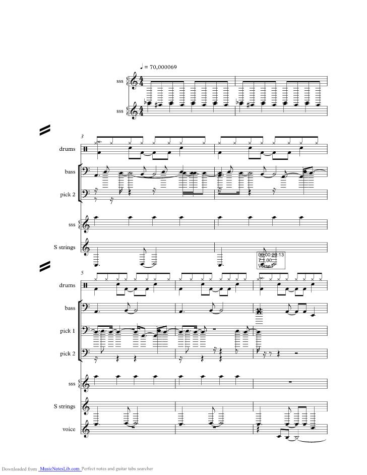 Howling music sheet and notes by Morcheeba @ musicnoteslib.com