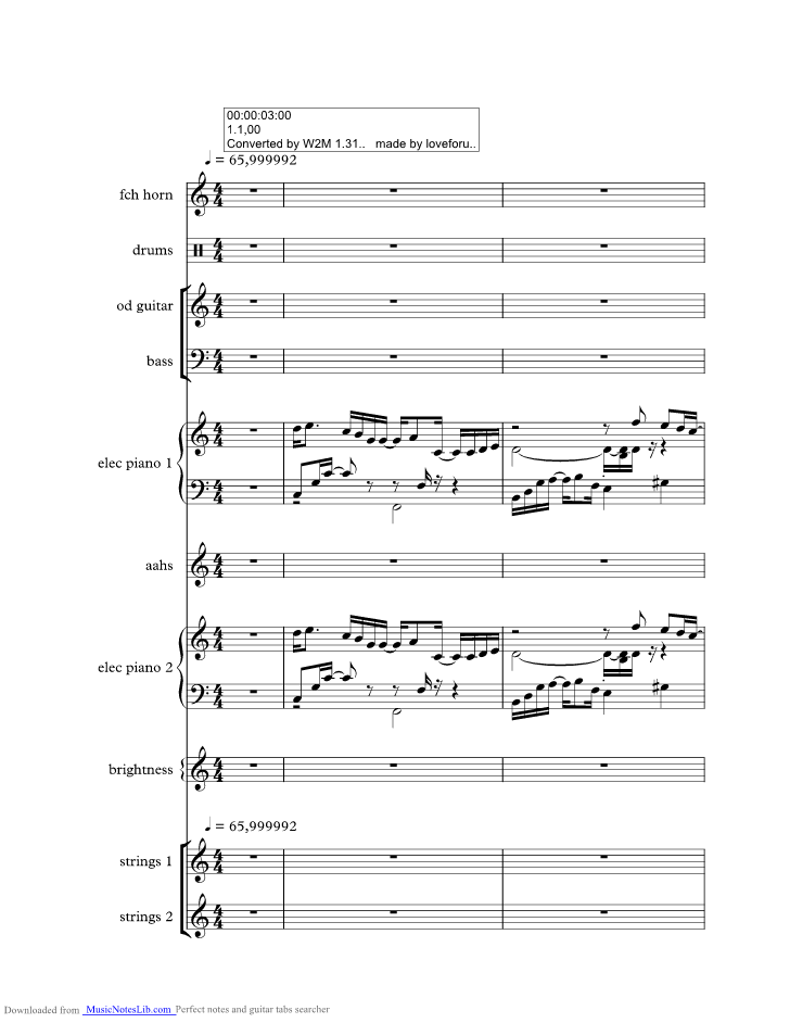 Nothing Gonna Change My Love Music Sheet And Notes By George Benson