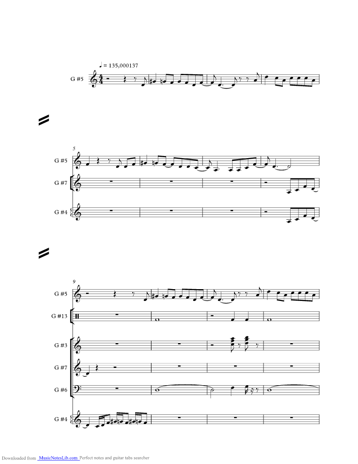 Move Over Music Sheet And Notes By Janis Joplin