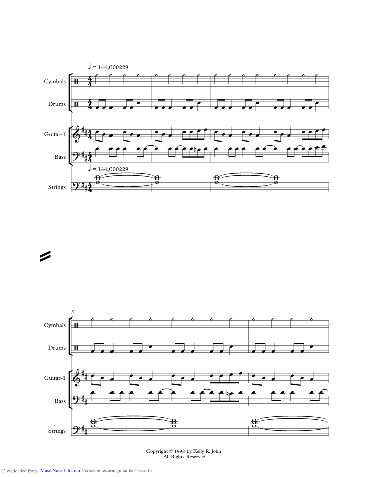 Daydream Music Sheet And Notes By Journey Musicnoteslib