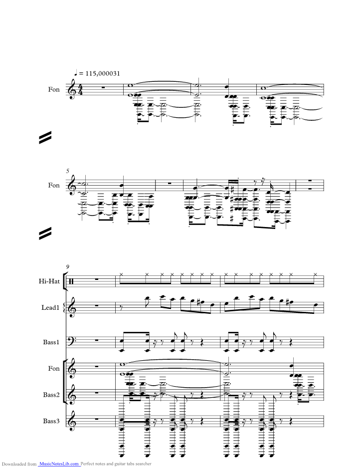 Phantasm Theme music sheet and notes by Halloween @ musicnoteslib.com
