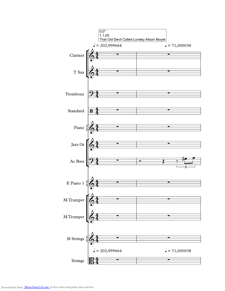 Old Devil Called Love Music Sheet And Notes By Alison Moyet
