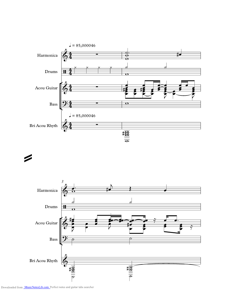 Bad Timing Music Sheet And Notes By Blue Rodeo Musicnoteslib
