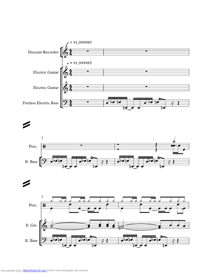 Never There Cake Trumpet Sheet Music
