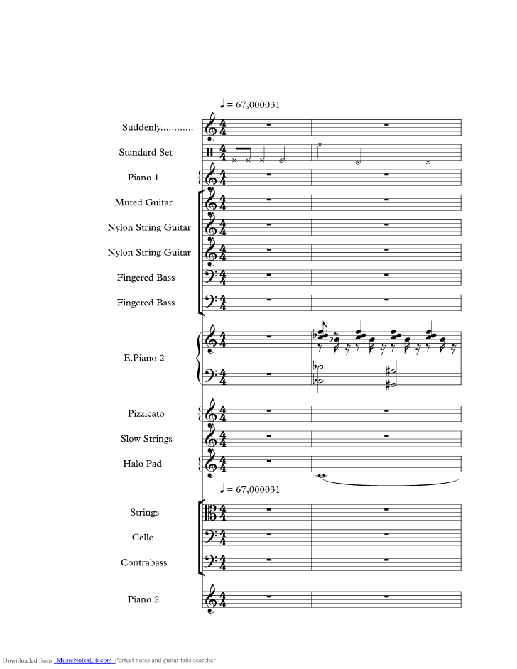 Suddenly Music Sheet And Notes By Billy Ocean Musicnoteslib