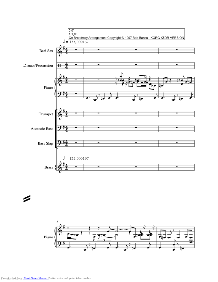 On Broadway Music Sheet And Notes By George Benson Musicnoteslib