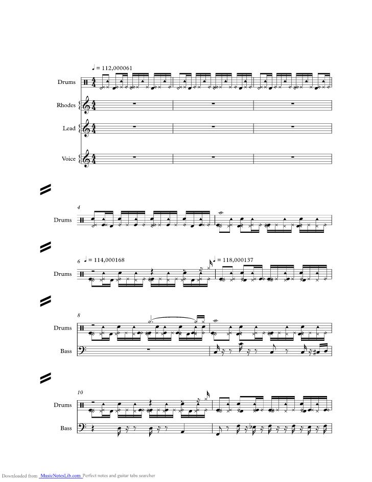 All Music Chords runaway sheet music : Mr. Moon music sheet and notes by Jamiroquai @ musicnoteslib.com