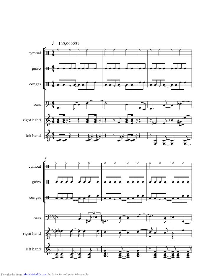 Cancer Music Sheet And Notes By Joe Jackson Musicnoteslib