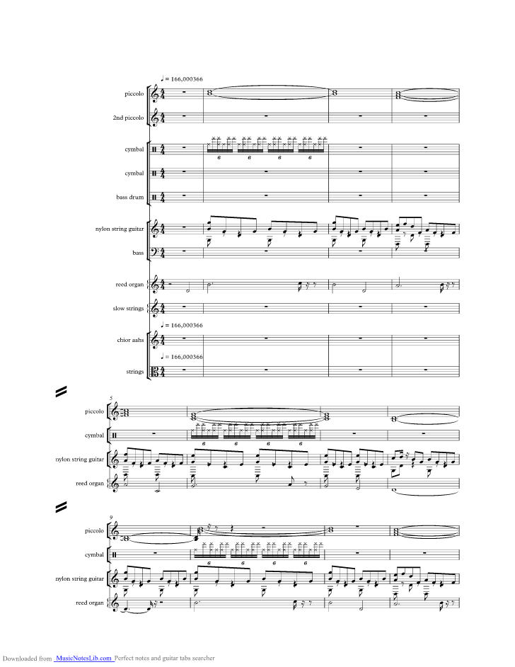 For My Lady music sheet and notes by Moody Blues @ musicnoteslib.com