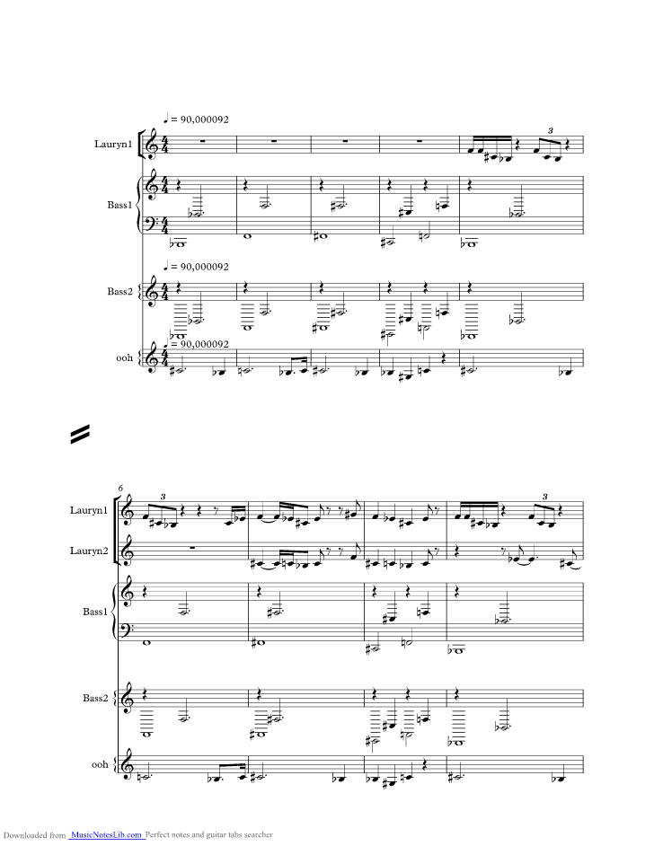Ready or Not music sheet and notes by Fugees @ musicnoteslib.com