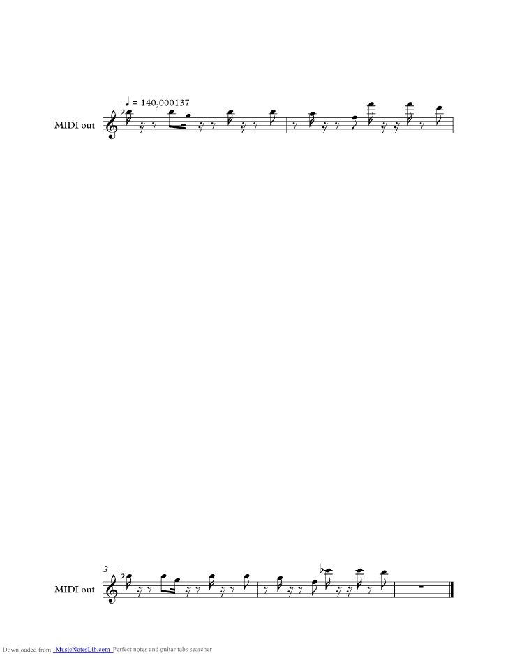 Alice Deejay Better Off Alone Music Sheet And Notes By Alice Deejay Musicnoteslib Com