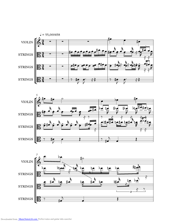 The Four Seasons Spring 2nd Movement Music Sheet And Notes