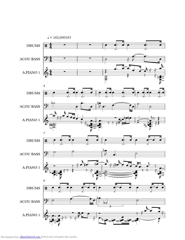 Israel Music Sheet And Notes By Bill Evans At Musicnoteslibcom