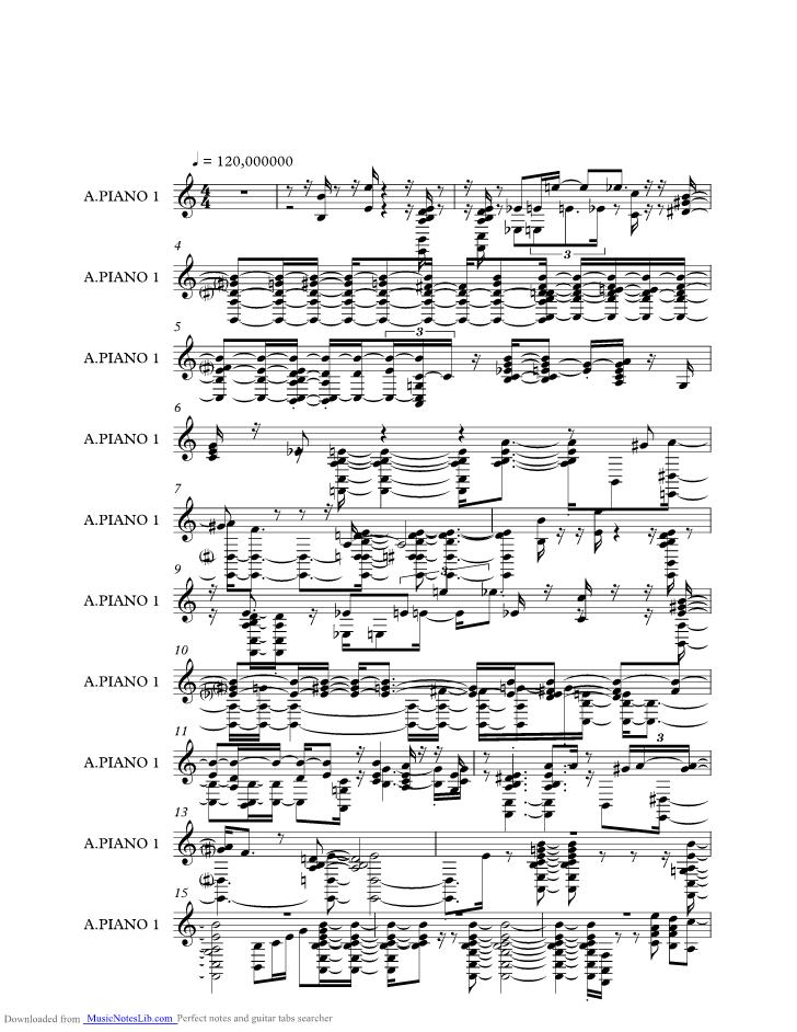 Nardis Music Sheet And Notes By Bill Evans At Musicnoteslibcom