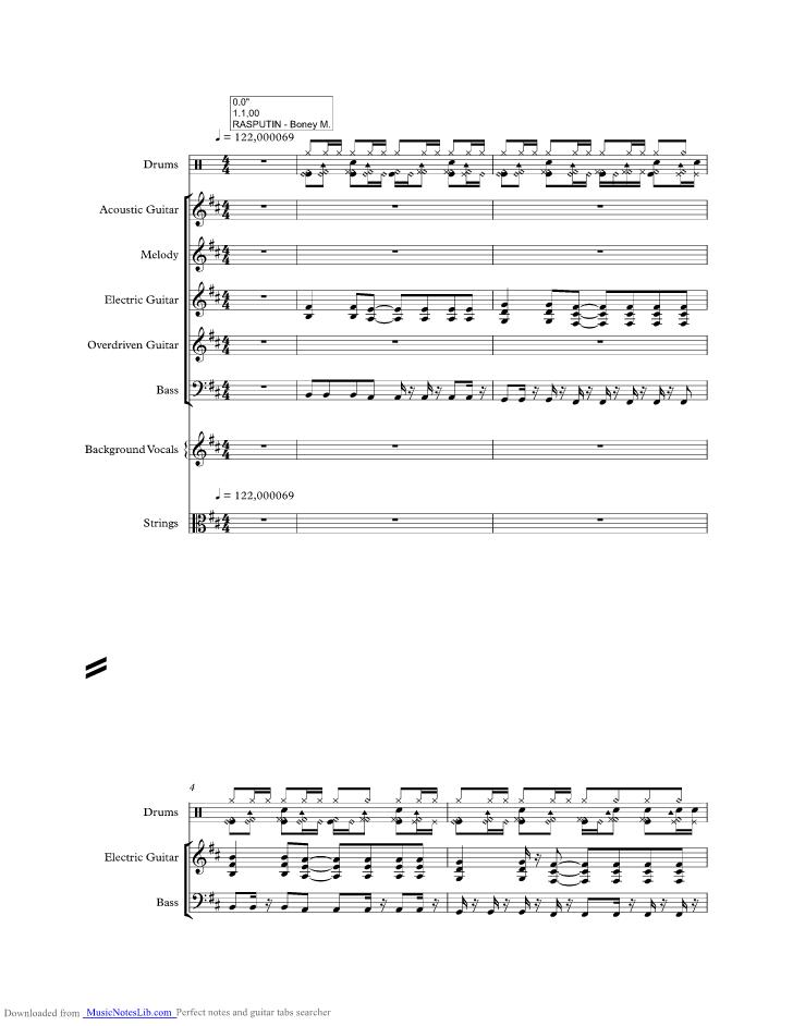 Rasputin Guitar Chords Choice Image - basic guitar chords finger ...