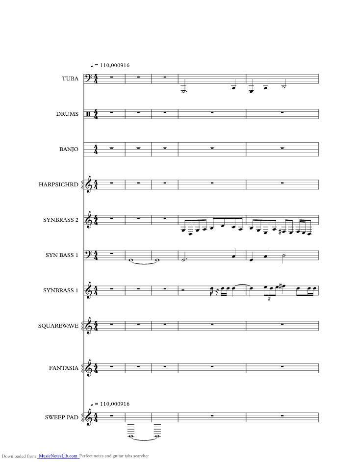 Mainstreet Electrical Parade Theme Disney World music sheet and ...