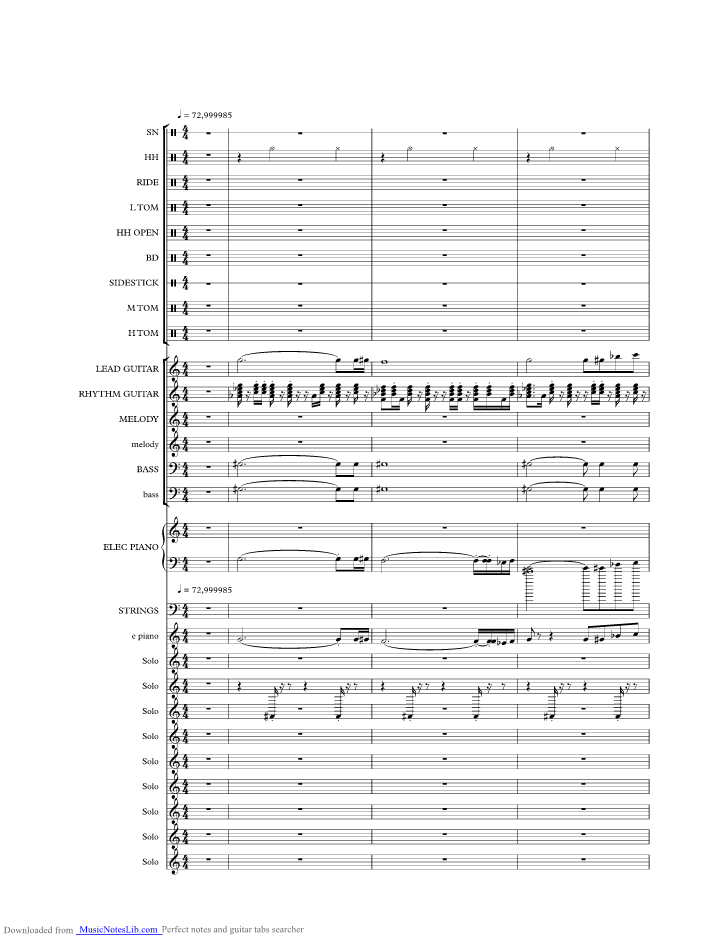 Baby Im A Want You Music Sheet And Notes By Bread Musicnoteslib