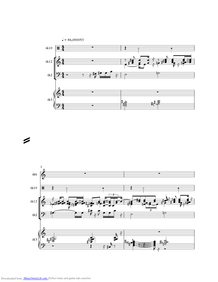 Samurai music sheet and notes by Djavan @ musicnoteslib.com