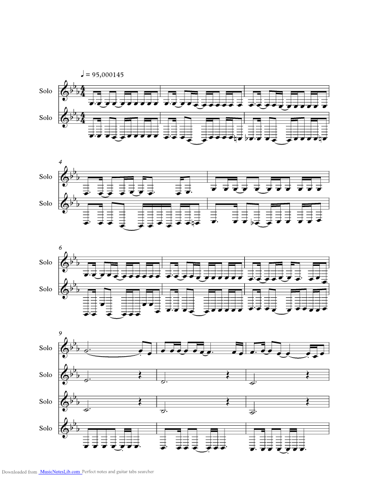 Come Undone Music Sheet And Notes By Duran Duran Musicnoteslib