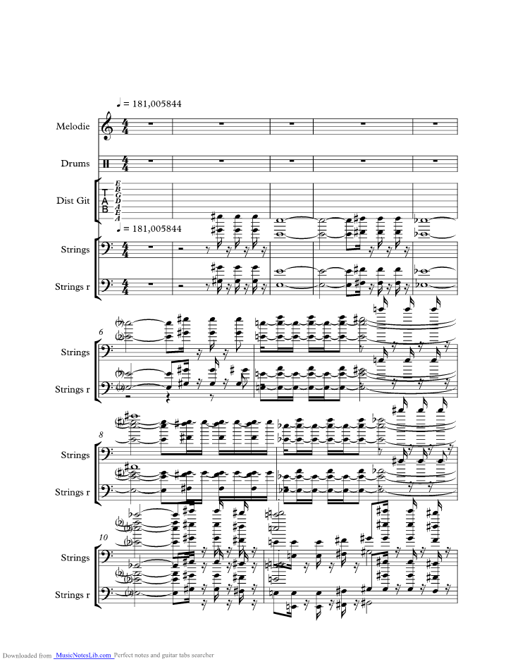 Roll Over Beethoven Music Sheet And Notes By Electric Light