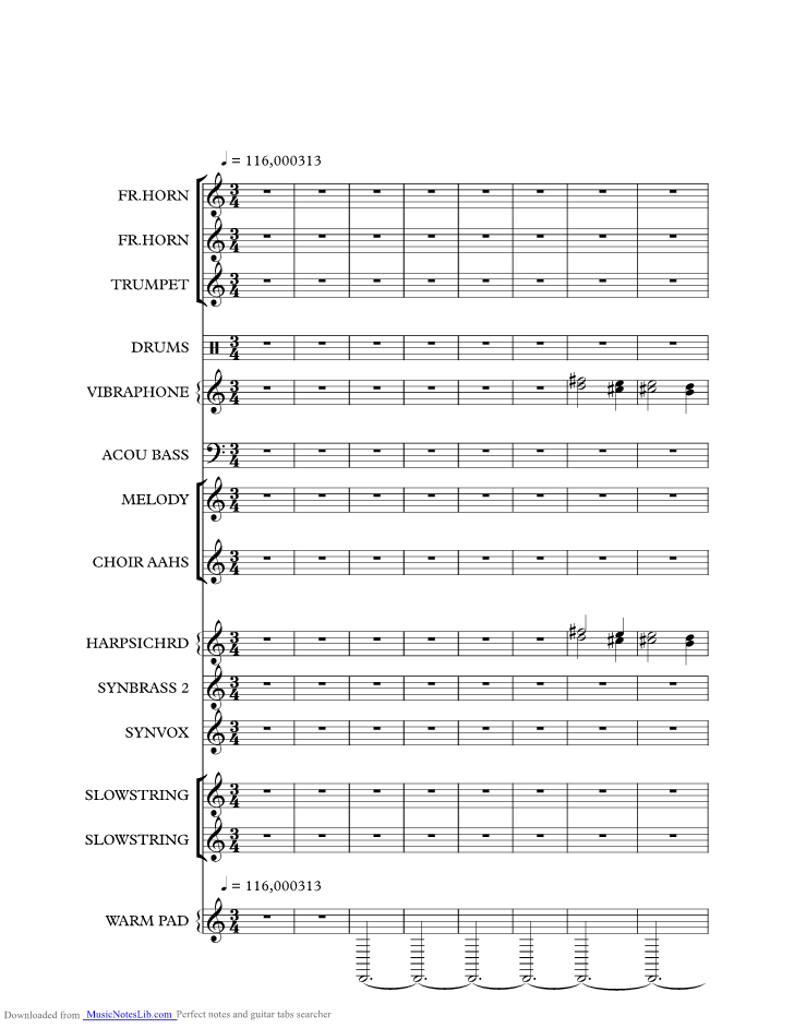 Once Upon A Time In The West music sheet and notes by Ennio Morricone @ musicnoteslib.com