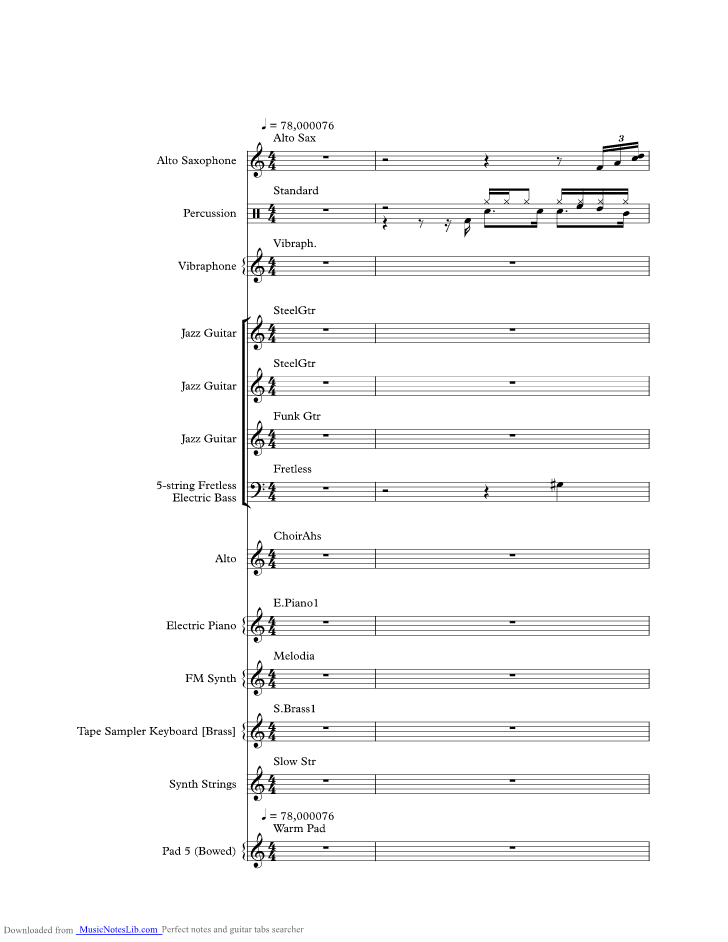 Careless Whispers Music Sheet And Notes By George Michael