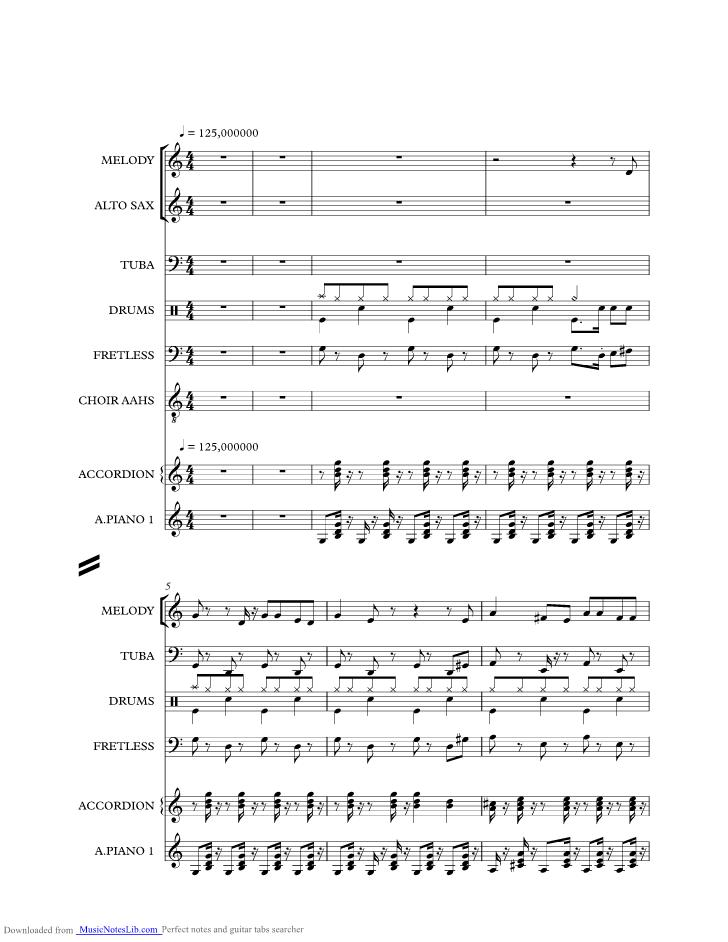 Polonäse blankenese (klavier + gesang) gottlieb wendehals [pdf noten].