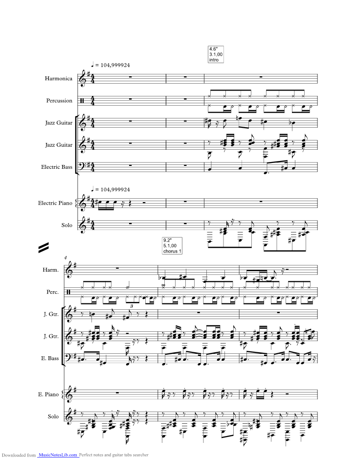 Marianne Music Sheet And Notes By Harry Belafonte Musicnoteslib