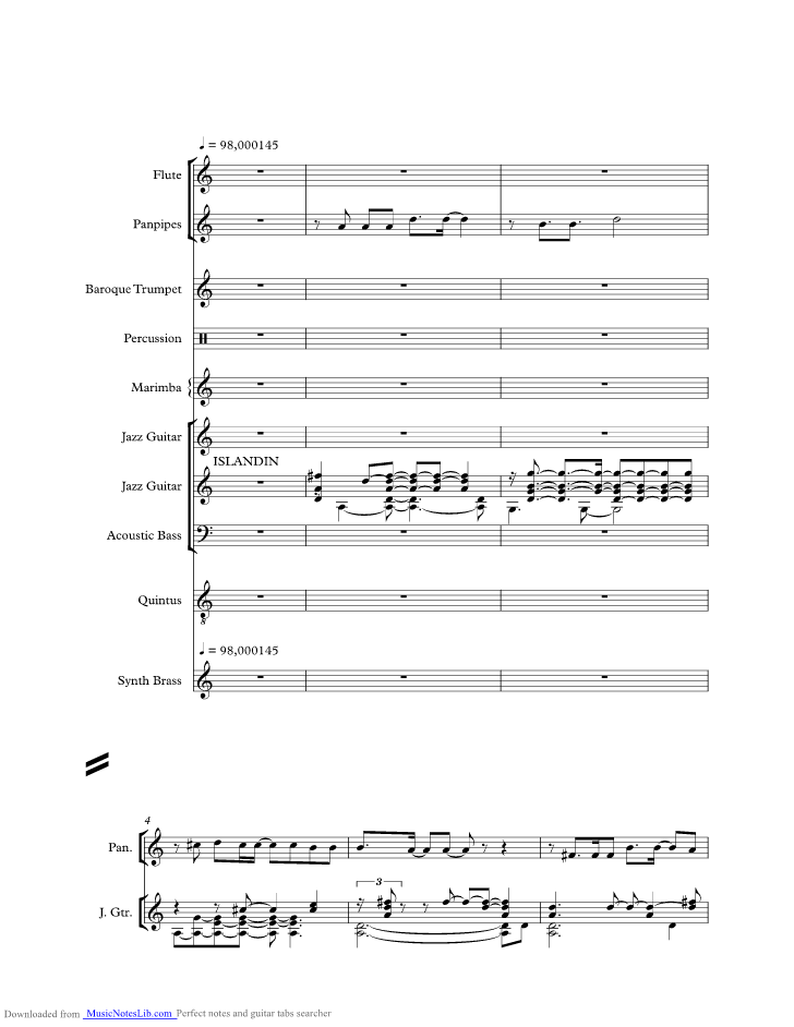 Island In The Sun music sheet and notes by Harry Belafonte ...