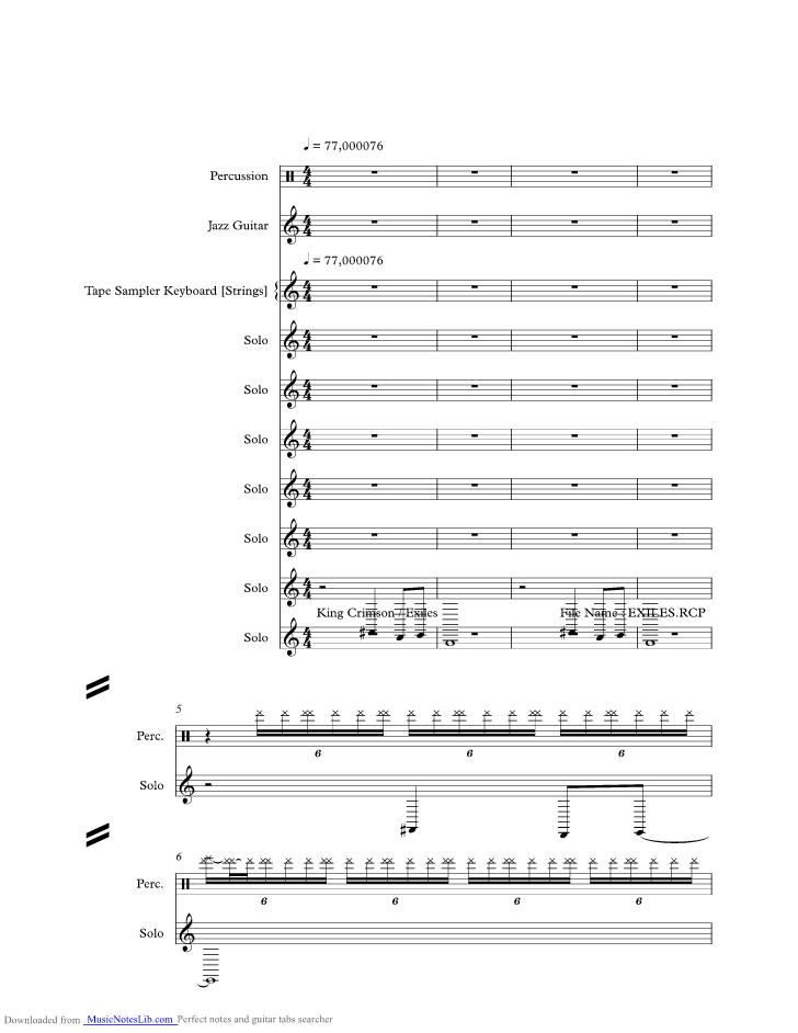 king crimson sheet music pdf