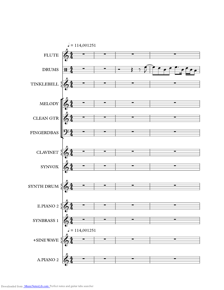 Starchild music sheet and notes by Level 42 @ musicnoteslib.com