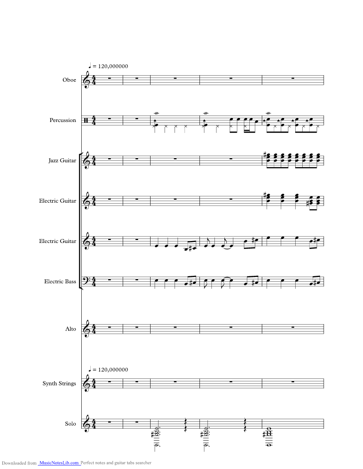 Yellow River music sheet and notes by Tony Christie @ musicnoteslib.com