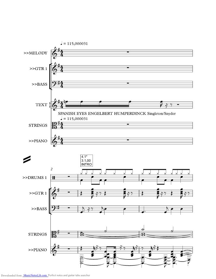 How i love you engelbert humperdinck piano sheet music