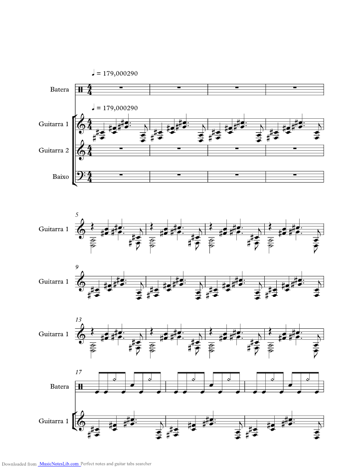 I Hate Everything About You Music Sheet And Notes By Three Days