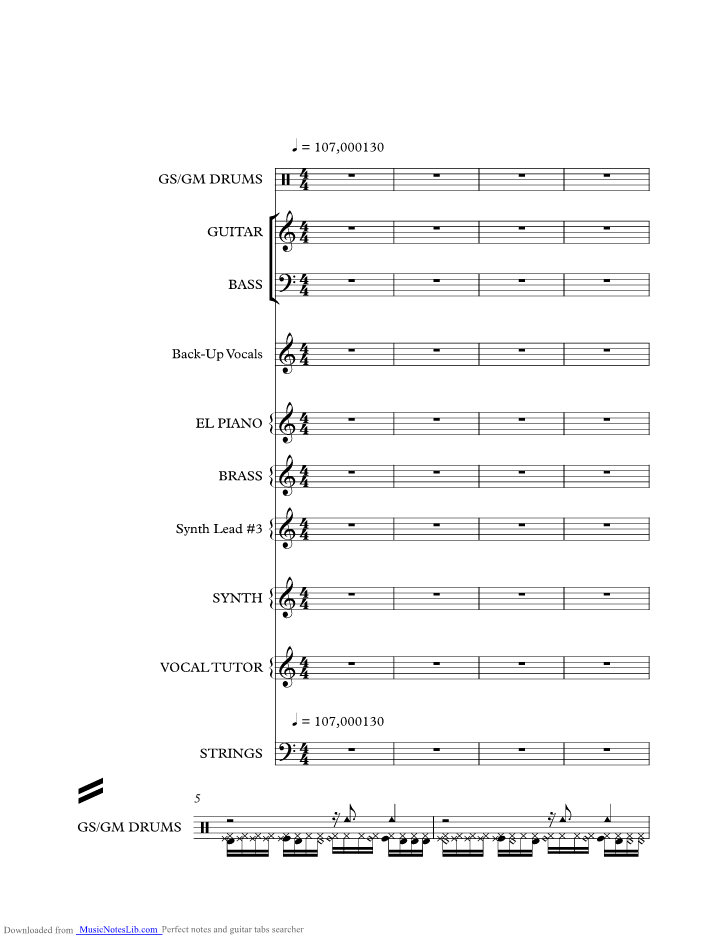 All Night Long Music Sheet And Notes By Lionel Richie