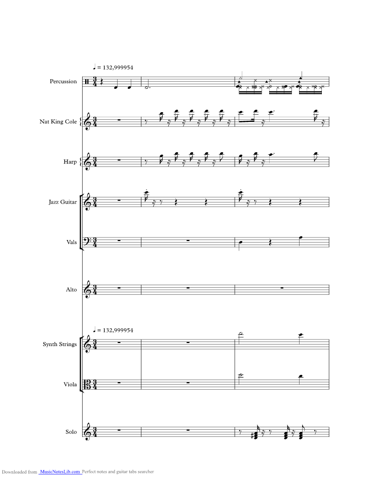Ansiedad Music Sheet And Notes By Nat King Cole Musicnoteslib