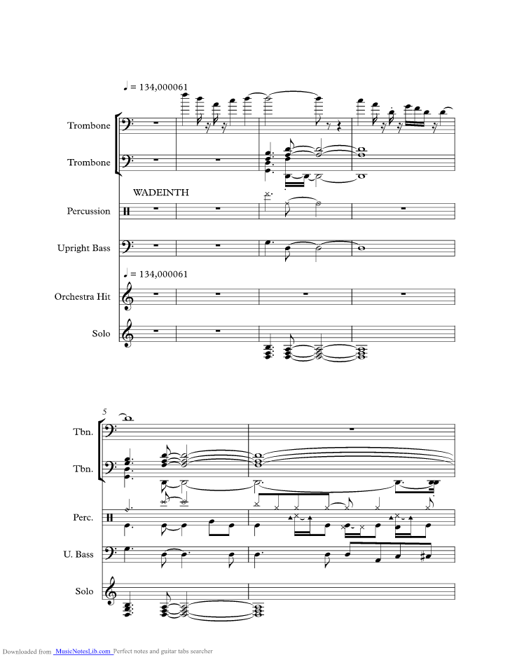 Wade In The Water Music Sheet And Notes By Ramsey Lewis Trio