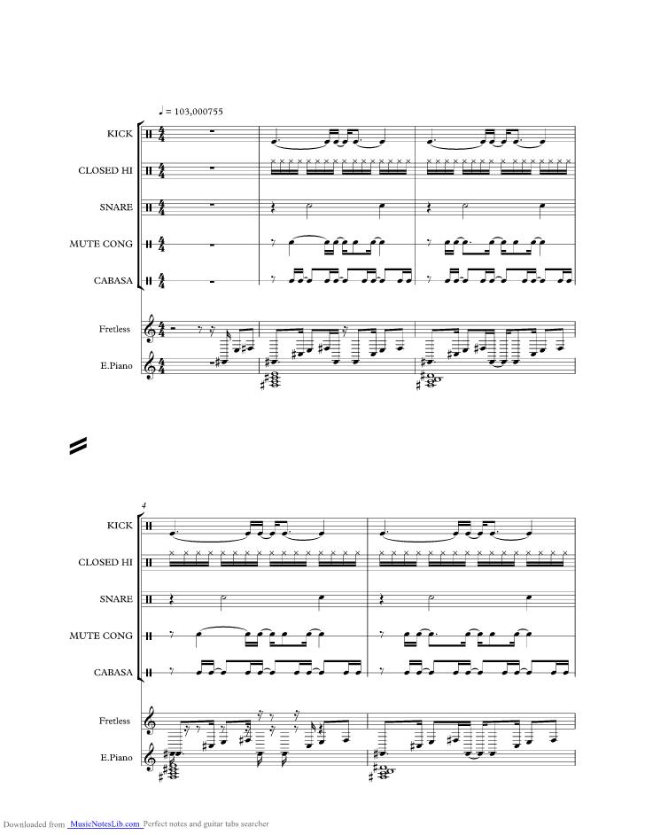 PARADISE music sheet and notes by Sade @ musicnoteslib.com